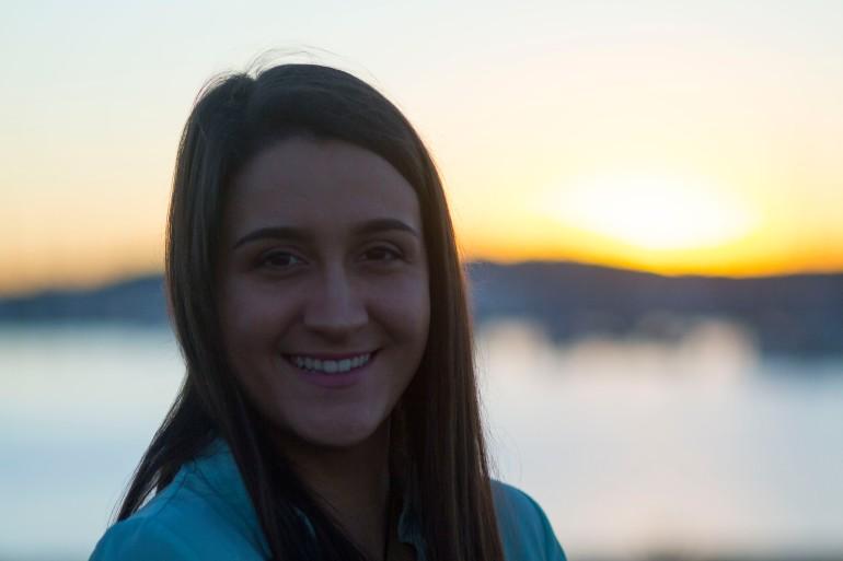 Kera Sherwood-O'Regan at sunset, taken by JG Boberg.